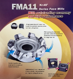 "2"" FMA11 45 DEGREE SLICE MILL KIT W/10 FREE INSERTS"